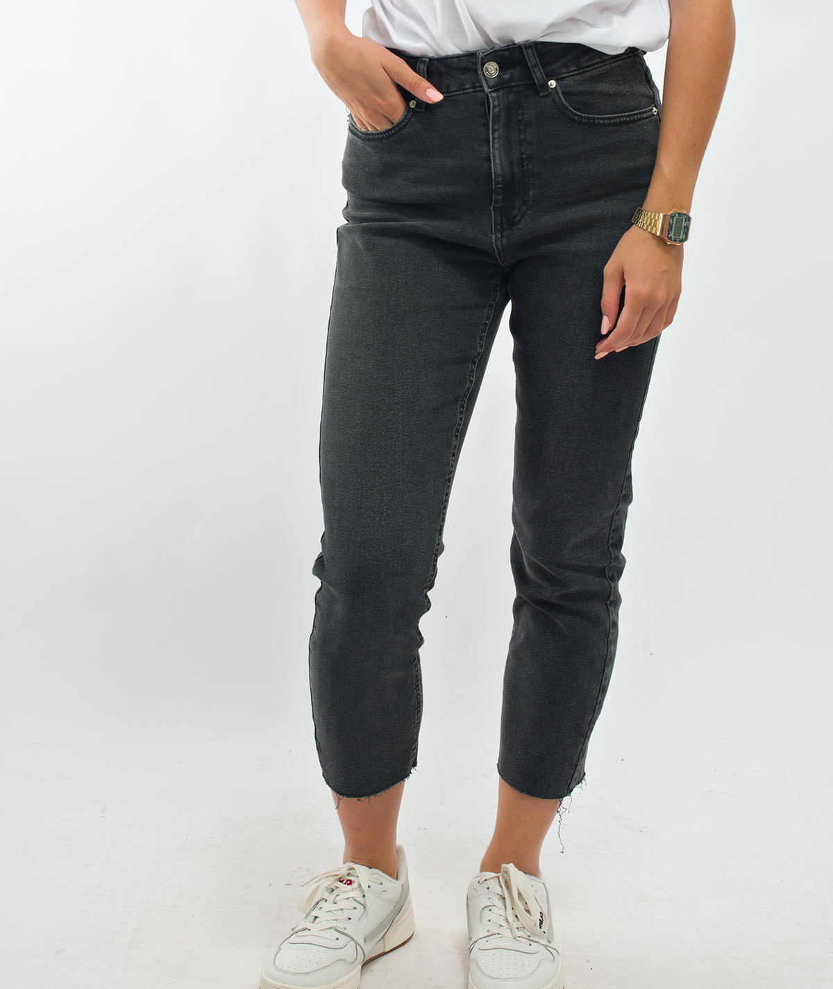 soda jeans zwart black high highwaisted mom boyfriend